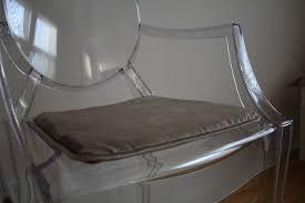 Ghost chair custom seat cushion