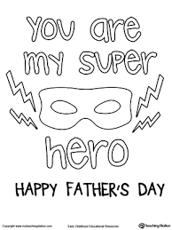 Small Picture Fathers Day Card Superhero Outfit MyTeachingStationcom