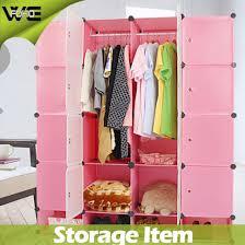 Furniture Closet Plastic Cheap Bedroom Storage Wardrobes Designs