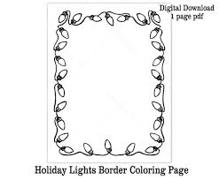 Color pictures of santa claus, reindeer, christmas trees, festive ornaments and more! Christmas Lights Coloring Page Printable Letter For Santa Etsy