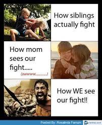 The siblings fight | Memes.com via Relatably.com