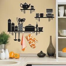 roommates build a kitchen shelf l and stick giant wall decals
