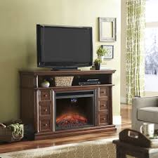 electric fireplace with a full mantel