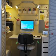 making your own office from a storage closet