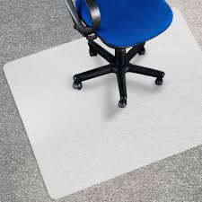 chair mat for carpets low um pile computer chair floor protector for office and home opaque studded polypropylene 30 x48