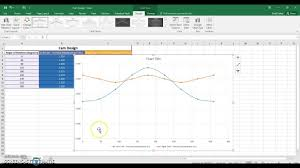 Hexagon Chart Excel Pltw Ied Cam Design Creating A Motion Graph Using Excel