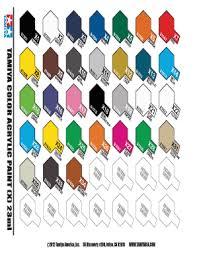 Tamiya Color Chart Pdf Fill Online Printable Fillable