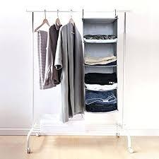 hanging closet organizer. Collapsible Closet Sharp Peak 4 Tier Hanging Organizer Shelf Gray L