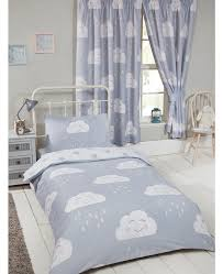 happy clouds junior toddler bedding bundle set bedroom duvet pillow and covers