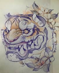 эскиз тату тигра япония татуировки искусство тату и идеи для