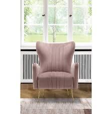 pink opera velvet accent chair
