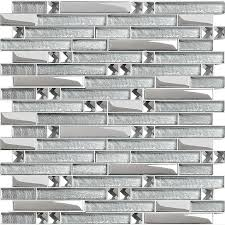 glass wall tiles. Silver Metal Plated Glass Tiles For Kitchen Backsplash Mosaic Tile Interlocking Clear Crystal Wall Mirror Bathroom