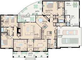 Country Style House Plan  3 Beds 200 Baths 2100 SqFt Plan 43045Country Style Open Floor Plans