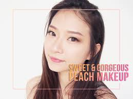 sweet gorgeous peach ulzzang makeup tutorial beauty ger indonesia