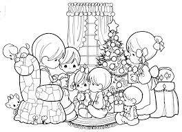 Small Picture Precious Moments Christmas Party Coloring Pages Cartoon Best