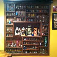 shot glass display case like double my collection but way awesome home improvement glasses and souvenir shot glass display