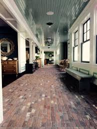 brick veneer flooring. Reclaimed Thin Brick Floor Installed In A Running Bond Pattern. Veneer Flooring B