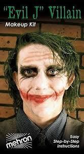 mehron professional evil j villain joker makeup kit the dark knight 18 88