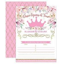 Amazon Com Princess Birthday Invitations Girl First Birthday