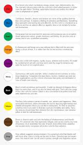 Dream Age Color Chart Psychology Colors And Their Meaning Color Meanings