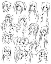 Hair Style Anime how to draw anime tutorial with beautiful anime character drawings 2839 by wearticles.com