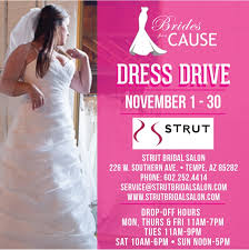 strut wedding dress donation drive