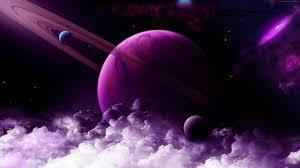 Wallpaper Saturn, planet, purple, 4k ...