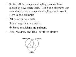 Syllogism Examples Using Venn Diagram Venn Diagram Technique For Testing Syllogisms Ppt Download