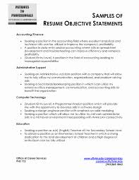 Resume Example Objective For Students Resume Examples Objective Luxury Sample Resume Objective Statement 54