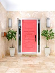 Coral Front Door Tile Marble Exterior In Warm Neutrals Modern Meets Traditional