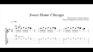 Fingerstyle Guitar - Robert Johnson - Sweet Home Chicago (From Hits  Collection Nr.7) - YouTube