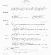 Resume For A Bartender Enchanting ☾ 48 Bartender Duties Resume