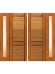 Exterior Window Design Stunning Double DoorTwo Sidelite Contemporary Flush Panel Solid Wood By