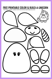 Print and color your favorite coloring. Free Printable Unicorn Template Color Build A Unicorn