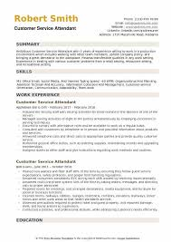 Customer Service Orientation Skills Customer Service Attendant Resume Samples Qwikresume