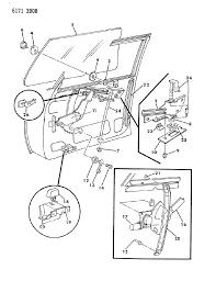 1986 chrysler lebaron base door front glass regulator diagram 000011y7