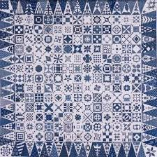 Modern repro of Jane Stickle Dear Jane quilt in Indigo fabrics ... & Modern repro of Jane Stickle Dear Jane quilt in Indigo fabrics Adamdwight.com