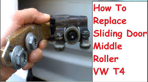 vw sliding door roller repair middle roller replacement fitting alignment