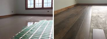 luxury vinyl tile lvt before and after with tempzone flex roll and self leveling cement 2