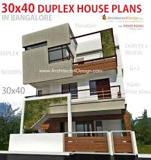 Duplex Designs On Half Plot Of Land 30x40 House Plans In Bangalore For G 1 G 2 G 3 G 4 Floors