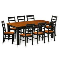 amazon east west furniture qupf9 bch w 9 piece dining table with 8 wooden chairs set kitchen dining