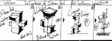 Le Corbusier Steven Holl Eliinbar Sketch