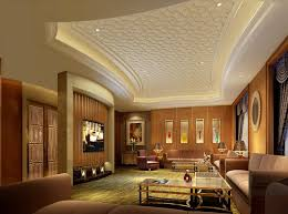 Small Picture Luxury Pattern Gypsum Board Ceiling Design for Modern Living Room