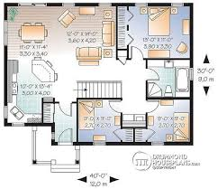House plan W detail from DrummondHousePlans com    st level Affordable bedroom bungalow house plan   kitchen island   Erindale