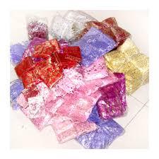 organza gift bags 17x23cm mixed patteren bulk 500 pcs