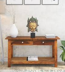 fulton solid wood console table