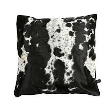 Small Picture Cowhide Cushions Black and White Zulucow