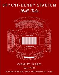 Bryant Denny Stadium Seating Chart Alabama Crimson Tide