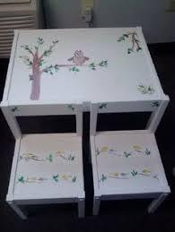 shabby chic childrens furniture. Childrens Table And Chair Set #shabbychic Shabby Chic Furniture A