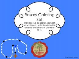 Printable coloring pages for girls. The Rosary Coloring Worksheets Teaching Resources Tpt
